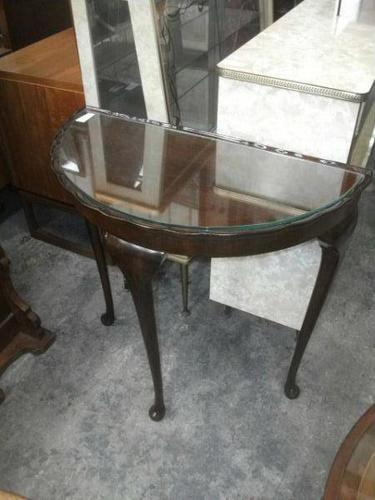 Glass Top Demi Lune Table (1 of 1)