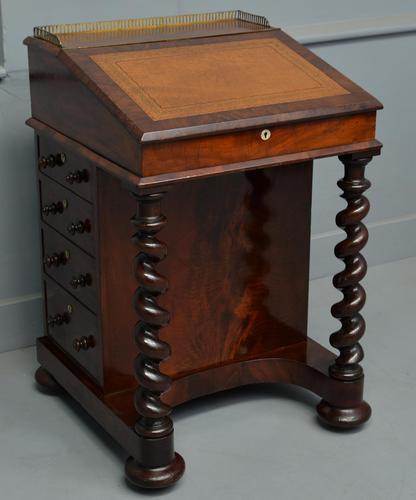 William IV Flame Mahogany Davenport Desk (1 of 18)