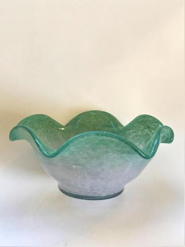 An Art Nouveau Vasart Glass bowl (1 of 5)