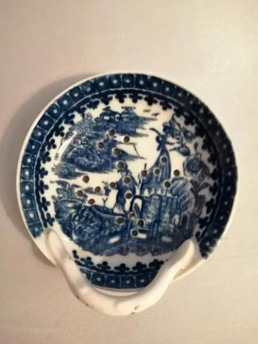 18th Century Caughley Blue & White Egg Drainer (1 of 5)