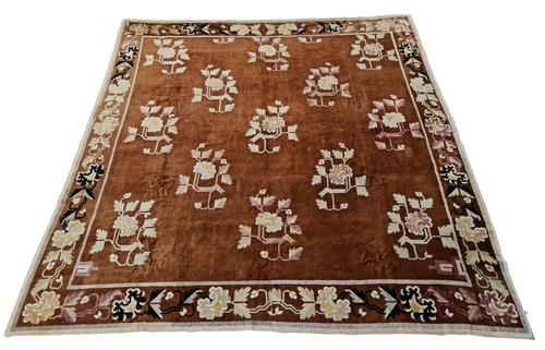 Antique Chinese Baotou-Suiyuan Rug (1 of 6)