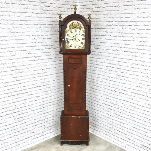 Painted Pine Cornish Longcase Clock (1 of 11)