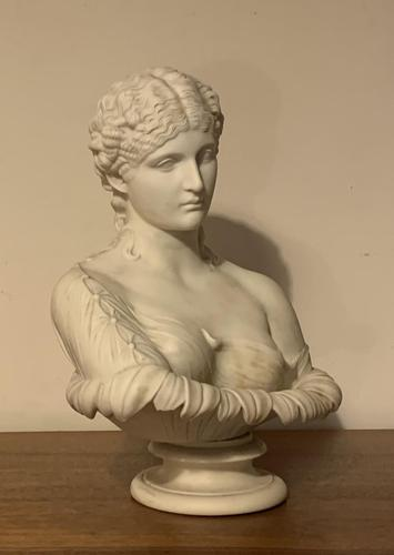 Parian Ware Copeland Bust of Clytie the Water Nymph (1 of 8)