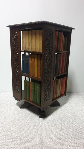 Large  Victorian Revolving Bookcase (1 of 6)