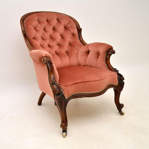 Antique Victorian Carved  Mahogany Armchair (1 of 11)