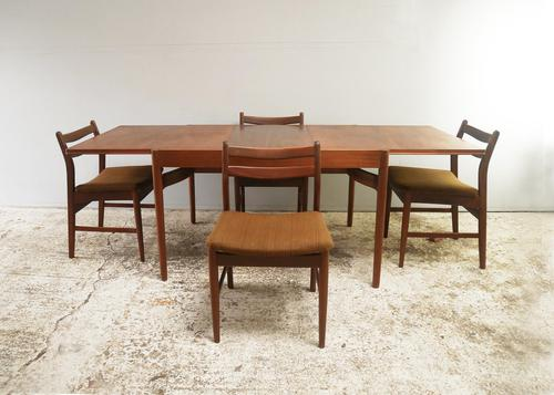 1960's Danish mid century dining table and 6 chairs (1 of 9)