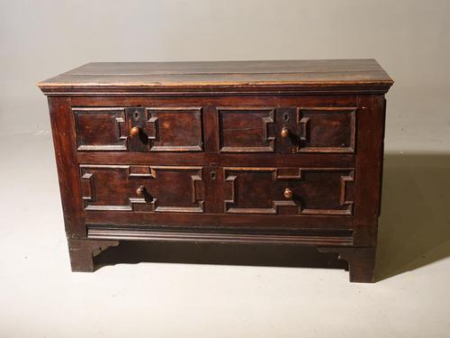 Unusual Late 17th Century Continental Oak & Walnut Chest of Drawers (1 of 4)