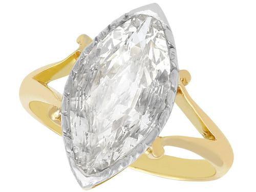 2.35ct Diamond & 18ct Yellow Gold Solitaire Ring - Antique c.1900 (1 of 9)