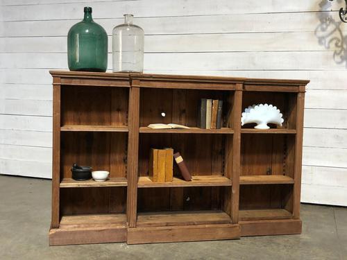 Oak Breakfront Open Bookcase (1 of 20)