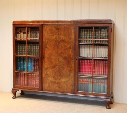 Burr Walnut Bookcase by Heals (1 of 11)