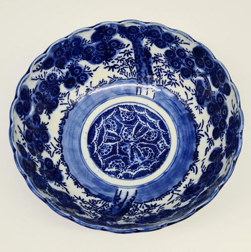 Antique Porcelain Chinese Blue & White Bowl (1 of 6)