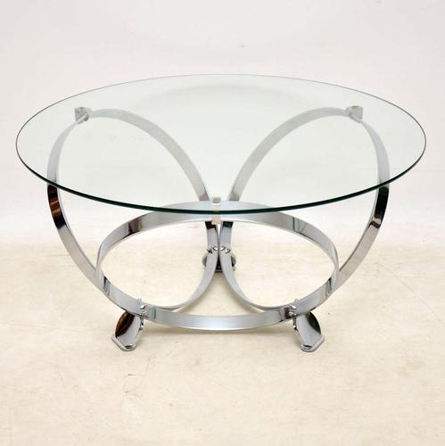 1970's Chrome & Glass Coffee Table by Knut Hesterberg (1 of 8)
