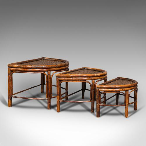 Antique Set of Nesting Tables, Oriental, Bamboo, Occasional, Side, Edwardian (1 of 10)