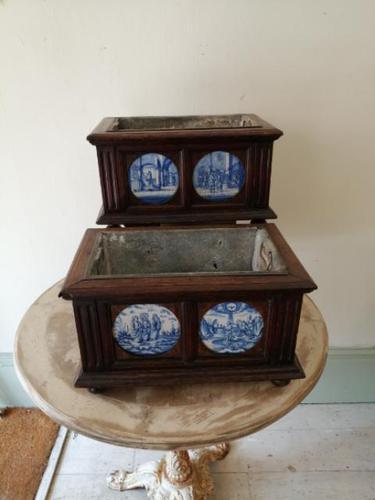 Rare Pair of Early 19th Century Dutch Jardinieres (1 of 21)
