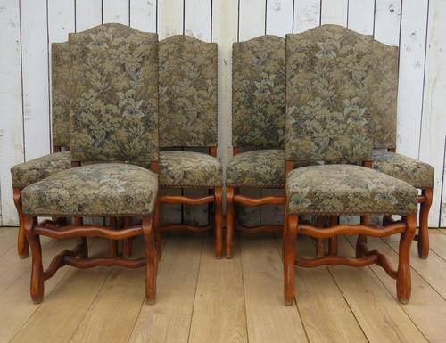 Set of Six Oak Os De Mouton Dining Chairs (1 of 9)