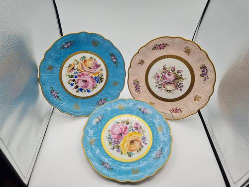 Vintage German Porcelain Plates / Chargers Bavarian /Set of Three (1 of 32)