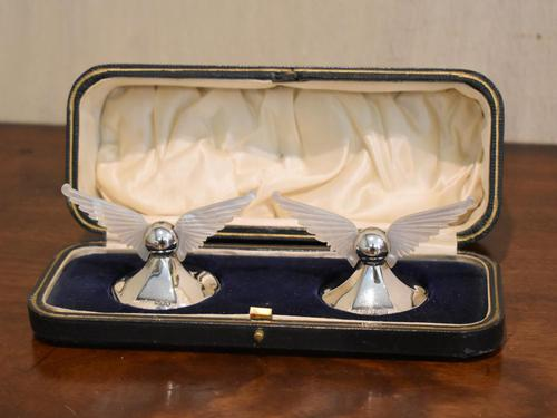 Unusual Pair of Winged Silver Knife Rests (1 of 5)