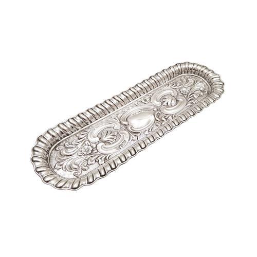 Antique Edwardian Sterling Silver Pen Tray 1902 (1 of 7)
