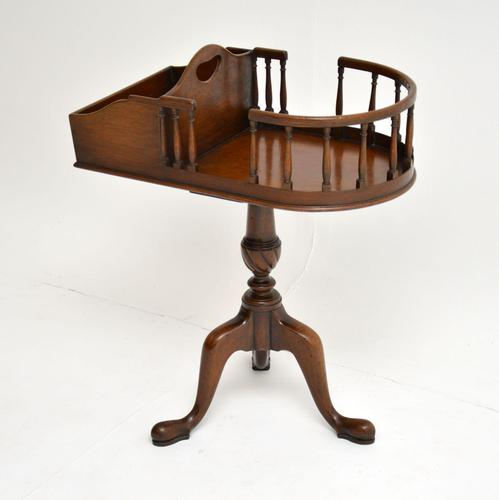 Antique Mahogany Side Table (1 of 8)