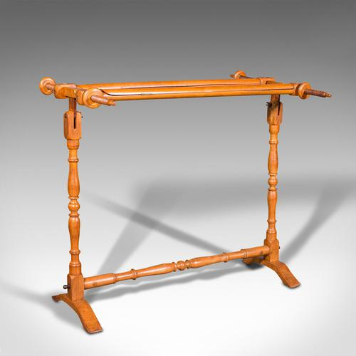 Antique Tapestry Stretcher, English, Beech, Needlepoint Frame, Victorian, 1900 (1 of 10)