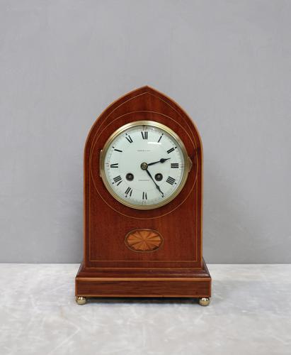 French Belle Epoque Mahogany Mantel Clock, 1900s (1 of 8)