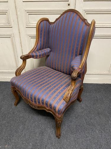 Comfortable French Wing Armchair (1 of 15)