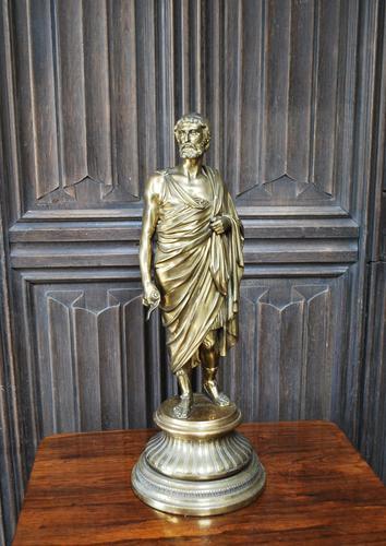 Grand Tour Gilt Bronze Roman Scholar (1 of 6)