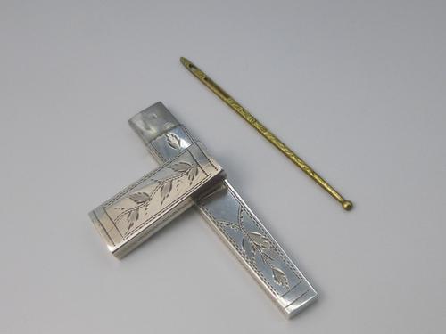 Silver Georgian Needle Case (1 of 6)