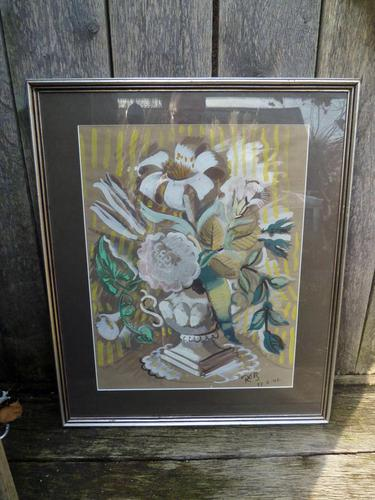 """Circle / Follower of Bloomsbury Group"""" Still Life """" Signed Rob 1946 (1 of 7)"""