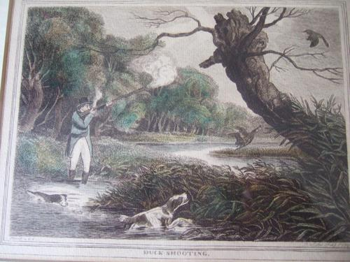 """Late 18th Century Etching """"Duck Shooting"""" by Samuel Howitt (1 of 6)"""