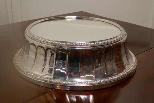 Large Vintage Mirror Top Elkington Silver Plate Wedding Cake Stand (1 of 8)