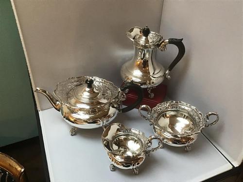 Solid Silver Edwardian Tea Set (1 of 9)