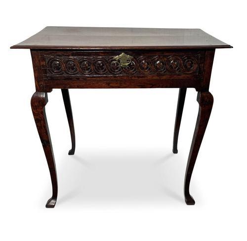English Oak Side Table (1 of 10)