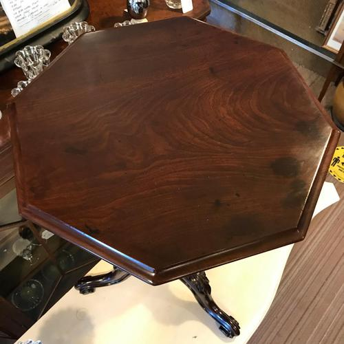 Lovely Quality Octagonal Mahogany Tripod Table (1 of 8)