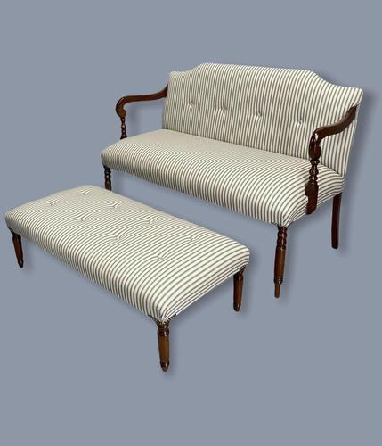 Regency Occasional Sofa with Footstool (1 of 9)