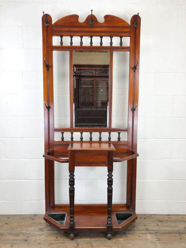 Antique Edwardian Mirror Back Hall Stand (1 of 10)