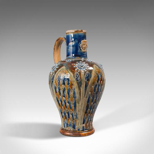 Antique Serving Ewer, English, Ceramic, Decorative, Amphora, Victorian, 1876 (1 of 12)