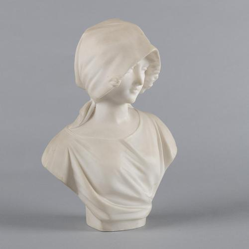 Italian Carved Alabaster Sculpture of a Female By Pugi (1 of 7)