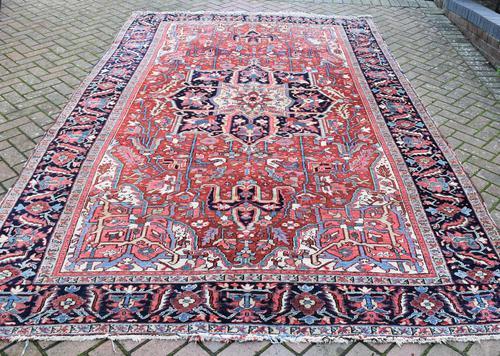 Antique Heriz Carpet 366x228cm (1 of 10)