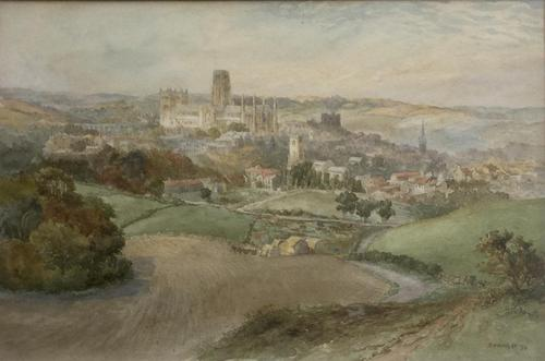 Richard Henry Wright Watercolour 'View of Durham' (1 of 2)
