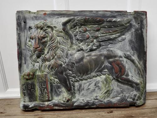Heavy Bronze Effect Wall Plaque Depicting the Winged Lion of St Mark, Venice (1 of 11)