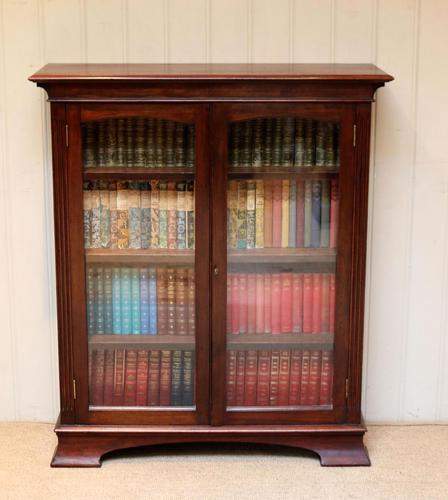 Edwardian Mahogany Glazed Bookcase c.1910 (1 of 11)