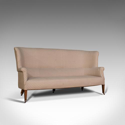 Antique Wing Sofa, English, Settee, Quality, High Back, Mahogany, Edwardian (1 of 12)