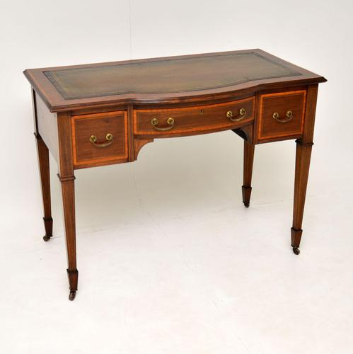 Antique Inlaid Mahogany Desk / Writing Table (1 of 13)