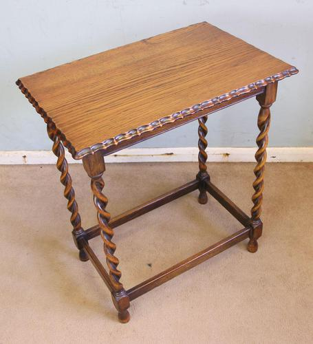Antique Oak Barley Twist Occasional Table (1 of 5)