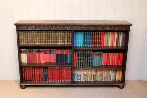Oak Open Bookcase c 1930 (1 of 12)