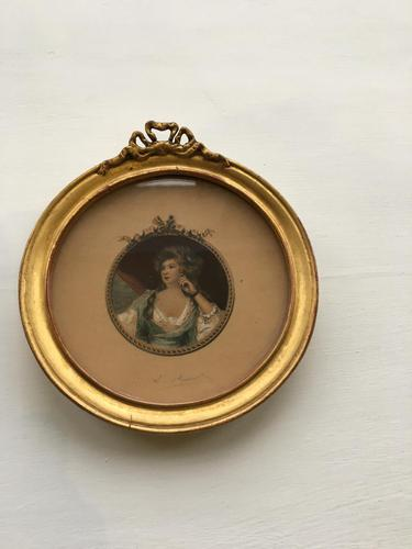 Georgian Miniature  of Lady (1 of 3)