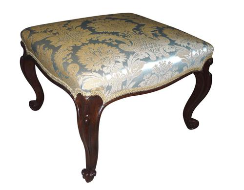 A large Victorian Rosewood Stool circa 1850 (1 of 1)