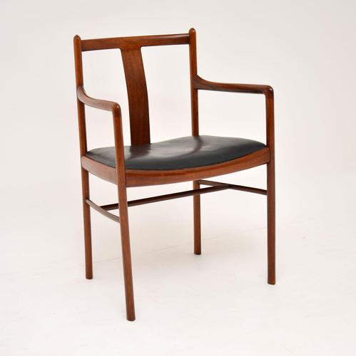 Danish Vintage Rosewood & Leather Armchair / Desk Chair (1 of 12)