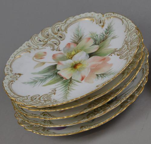 Nymphenburg Porcelain Hand Painted Plates - Set of 6 (1 of 5)